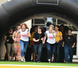 Spirit of Women members and fans had the chance to run through the tunnel!